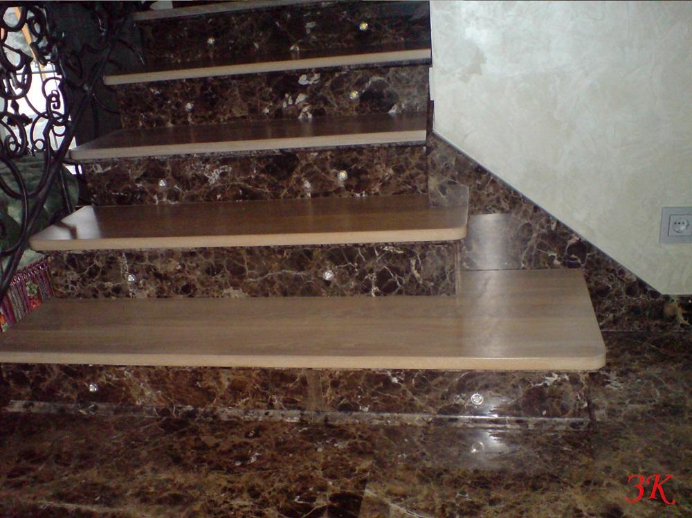 облицовке лестниц мрамором